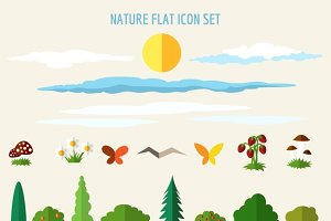 Nature flat icons