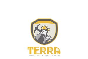 Terra Metal Ore Logo