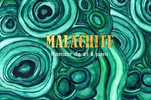 Malachite texture & clipart