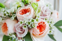 Wedding flower bouquet.