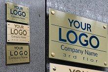 Logo Mock Up Wall Signs