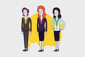 business woman vector characters