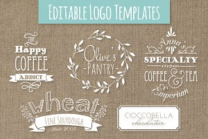 Cute Premade Logo Templates - Set 5