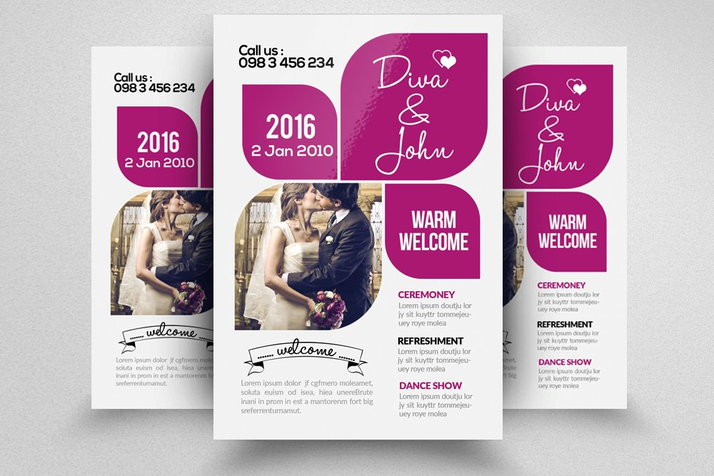 wedding invitation flyer template flyer templates creative market