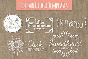 Cute Premade Logo Templates - Set 6