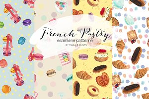Watercolor Seamless Patterns - Sweet