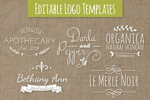 Cute Premade Logo Templates Set 7