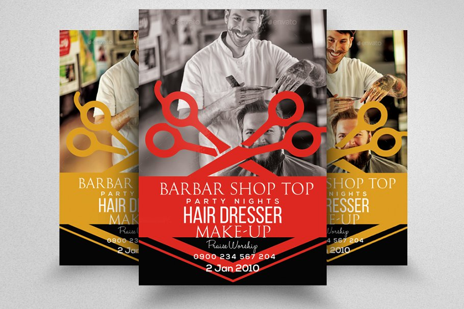 barber 39 s shop trifold brochure template for photoshop.html