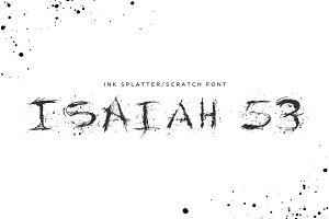 Isaiah 53 Ink Splatter Typeface