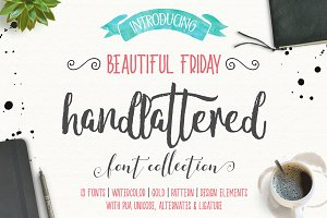 Beautiful Friday (13 Fonts & Extras)