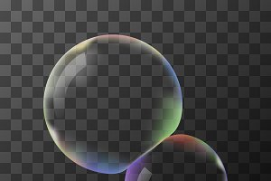 Transparent vector soap bubbles