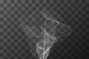 Transparent white smoke
