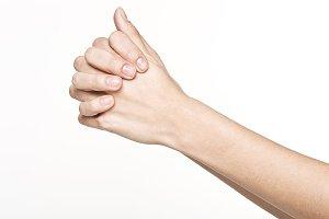Woman hand pray