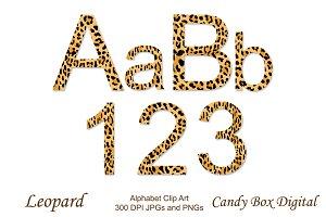 Leopard Alphabet Clip Art