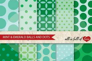Emerald Mint Digital Paper Pack