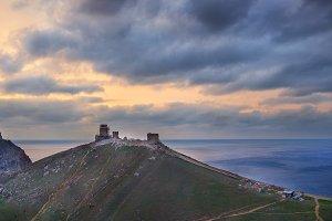 Ancient greek castle on the coast