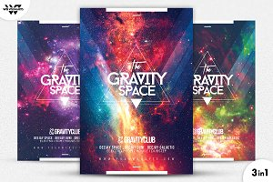 3in1 SPACE Flyer Template