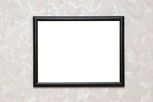 Black isolated photo frame