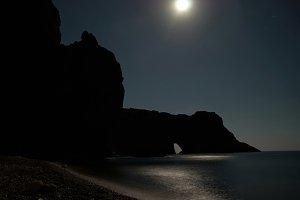 Sea coast at the night