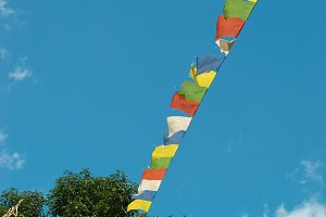 Tibetan prayer colorful flags