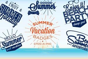 Summer vacation badges