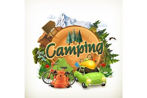Camping illustration