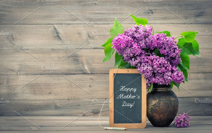 Lilac flowers. Happy Mother's Day! - Holidays
