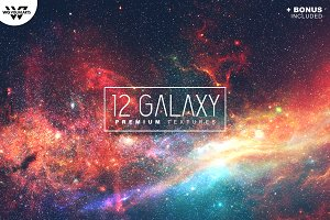 12 SPACE GALAXY Textures + BONUS