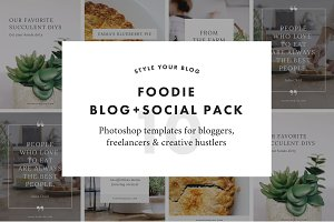 Foodie Blog + Social Pack