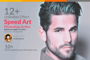Speed Art Photoshop Action