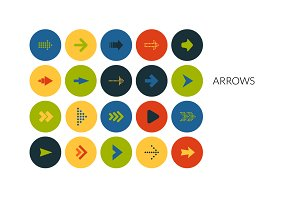 Flat icons set - Arrows