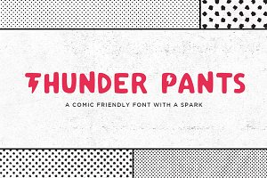Thunder Pants Typeface