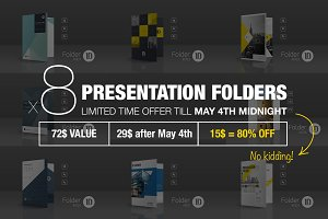 Bundle: 8 Presentation Folders