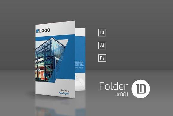 Bundle Presentation Folders Stationery Templates Creative - Brochure folder template