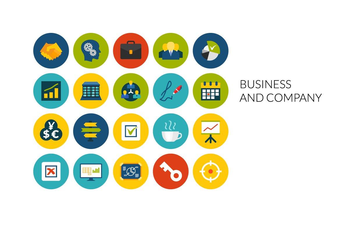 Flat icons set - Business & Company ~ Icons ~ Creative Market