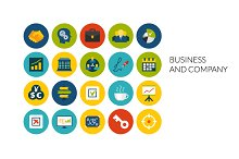 Flat icons set - Business & Company