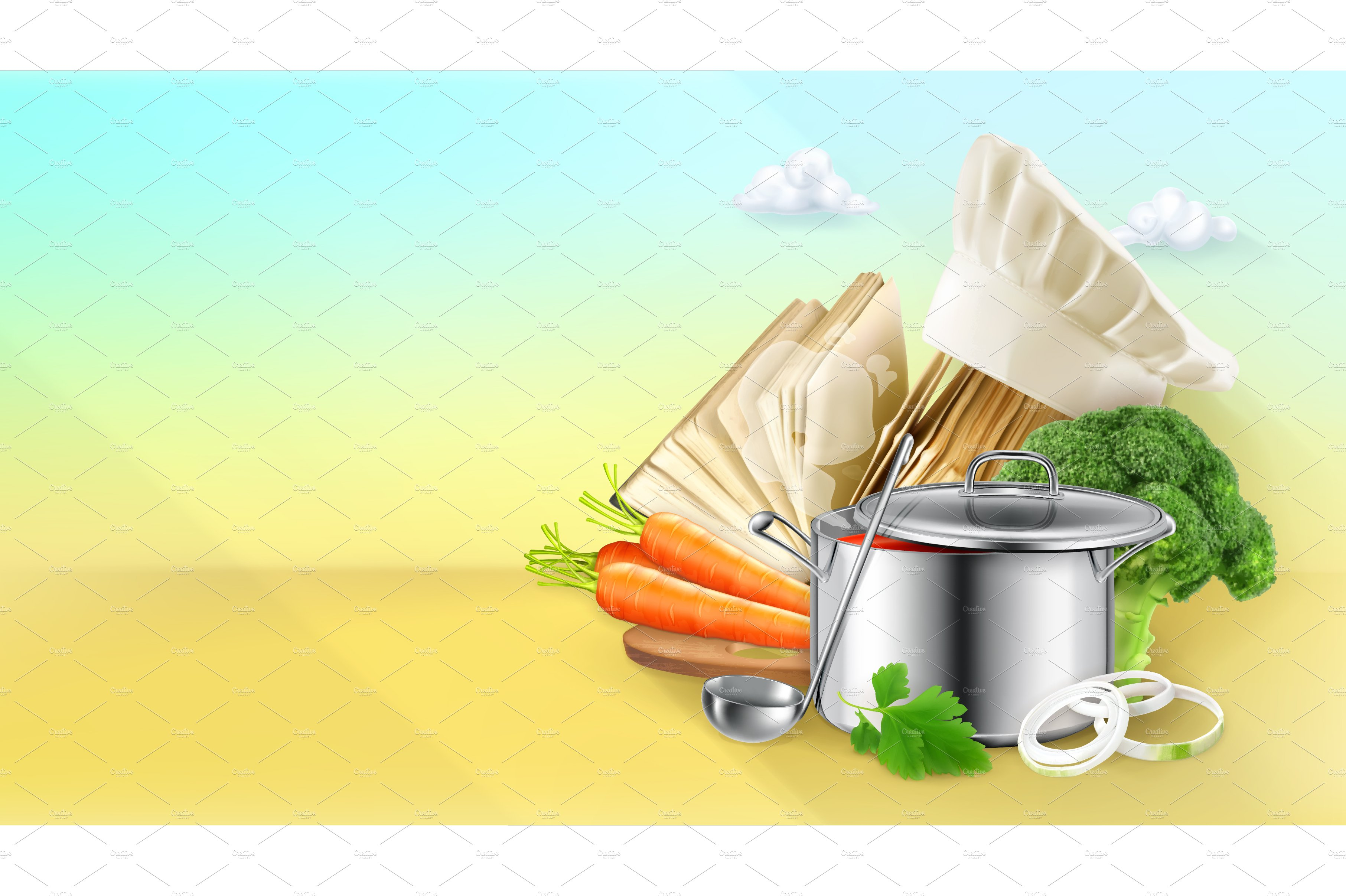 cooking vector background illustrations creative market