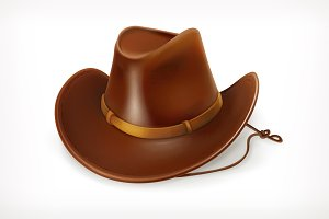Cowboy hat, game icon