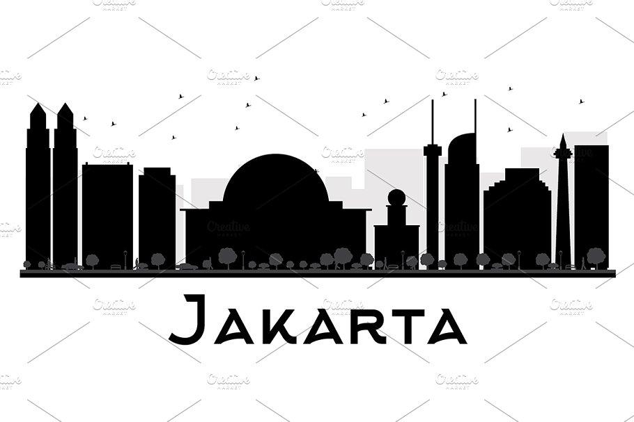 Jakarta City skyline silhouette