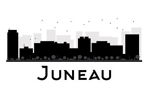 Juneau City skyline silhouette