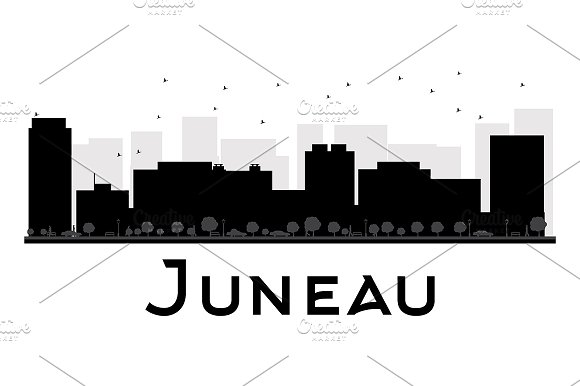 Juneau City skyline silhouette