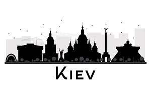 Kiev City skyline silhouette