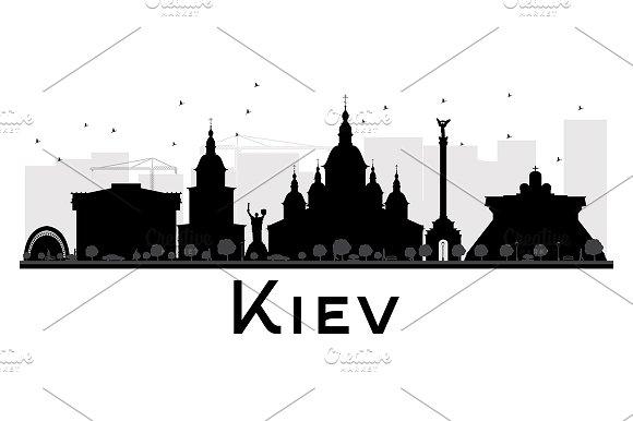 Kiev City skyline silhouette