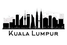 Kuala Lumpur City skyline silhouette