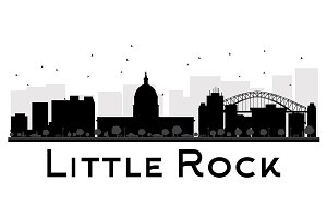 Little Rock City skyline silhouette