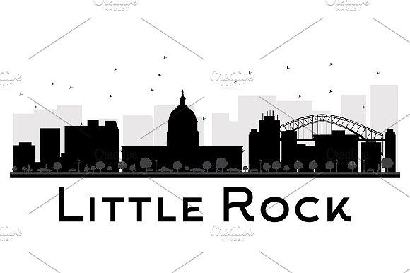Little Rock City skyline silhouette