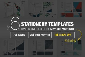 Bundle: 6 Stationery Corp Identity