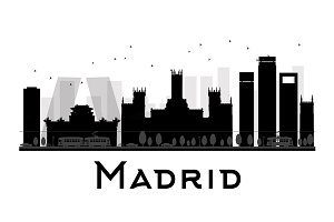 Madrid City skyline silhouette