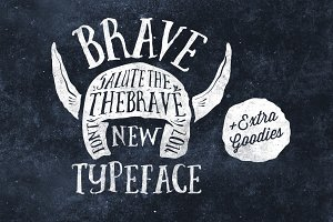 Brave New Font Pack & Graphic Extras