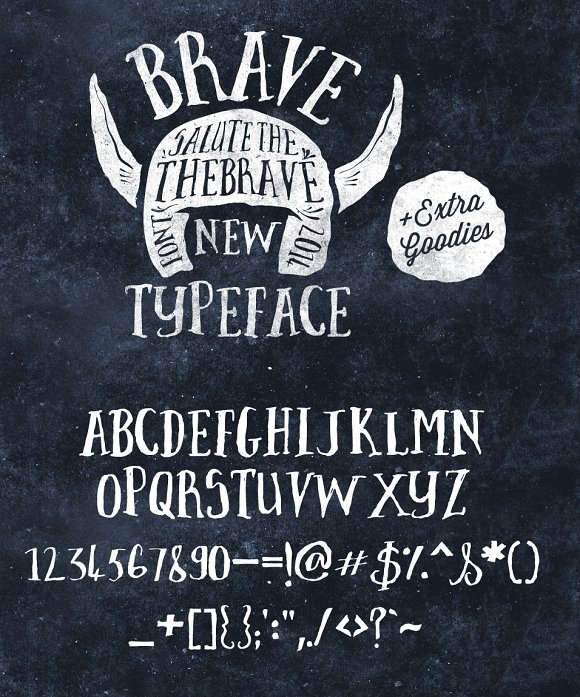 Download Brave New Font Pack & Graphic Extras ~ Serif Fonts on ...
